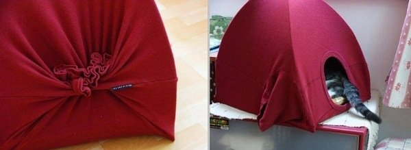 How to Make Old T-shirt Cat Tent