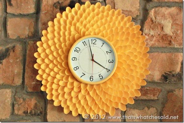 Chrysanthemum Clock From Plastic Spoons