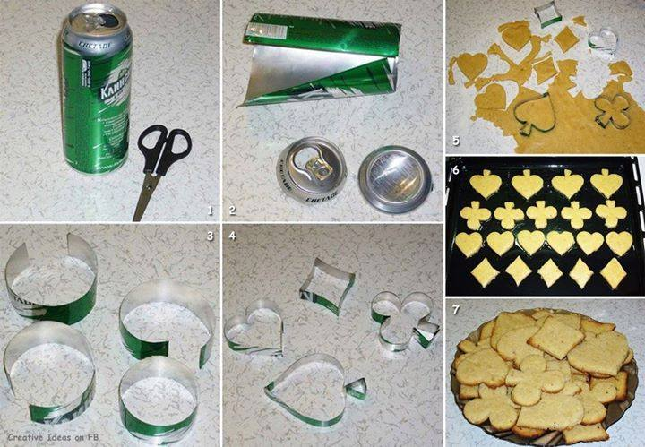 how to make Cookie Cutters using soda can