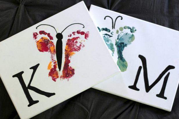 DIY Footprint Butterfly Art Tutorial
