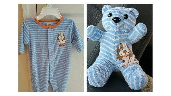 DIY Baby Onesie Clothes Stuffed Keepsake Teddy Bear