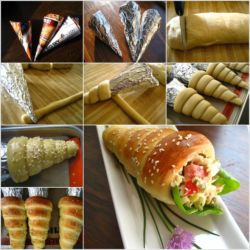 DIY bread cone