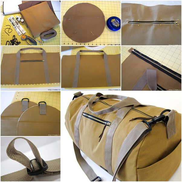 This Finished Duffle Bag Looks So Professional Like You Bought It From Eddie BauerR Cant Picture Harrison Ford Slinging Amazing Over His