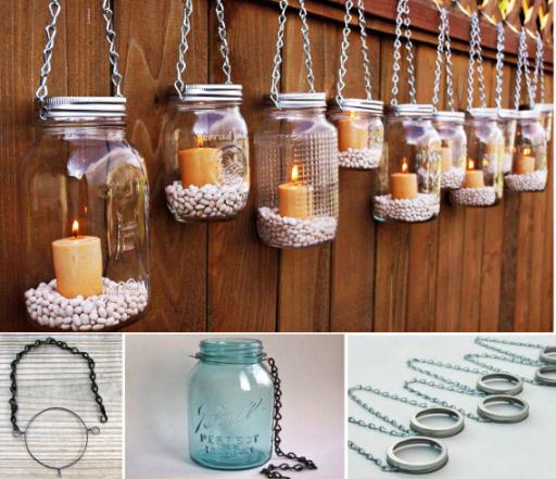 DIY Hanging Mason Jar Lanterns Picture Tutorial