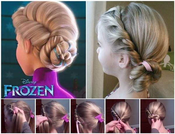 DIY Disney Frozen Coronation Hairstyle