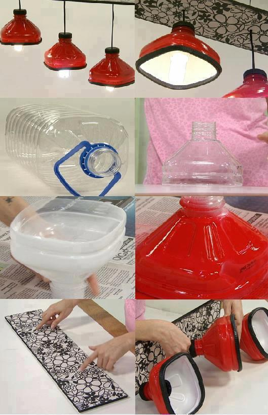 How to diy shining lamps with plastic bottles fab art diy - Lamparas para hacer en casa ...