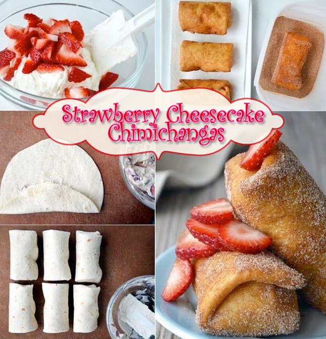 Fried cheesecake chimichanga recipes