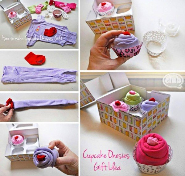 How to DIY Cute Cupcake Onesies Baby Gift