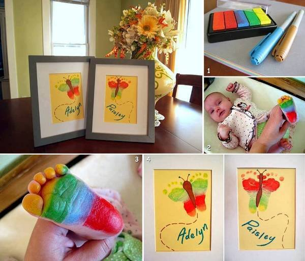 DIY Cute Baby Footprint Butterfly Art Tutorial
