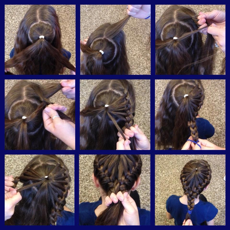 Детская прическа на длинные волосы своими руками