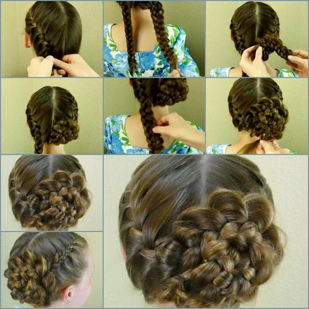 DIY Side Braid Rose Flower Hairstyle Tutorial - Fab Art DIY