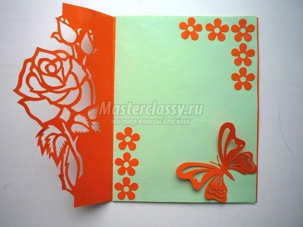 Free Carved Greeting Card Pattern - Rose and Butterfly6.jpg