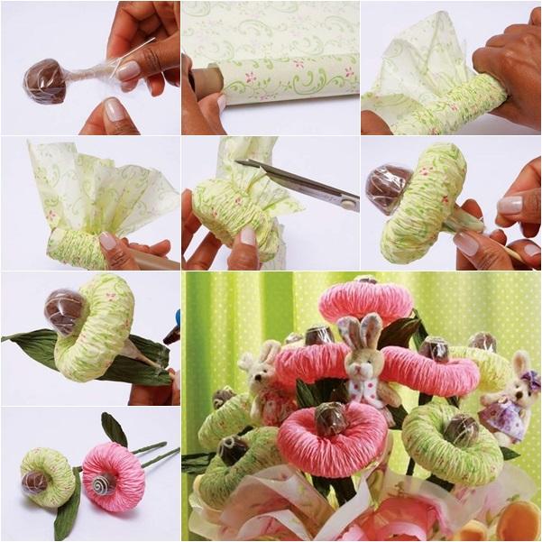 Diy chocolate paper flower bouquet mightylinksfo