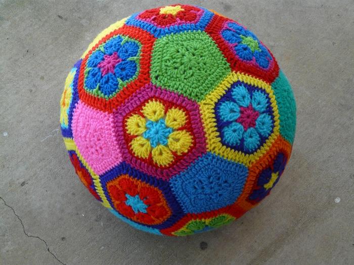 How to Make Crochet African Flower Soccer Ball www ...
