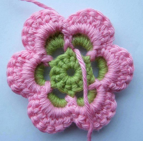 Easy Layered Crochet Flower Pattern : How to Crochet Beautiful Multi Layered Flower Pattern ...