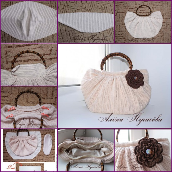 DIY crochet handbag free pattern