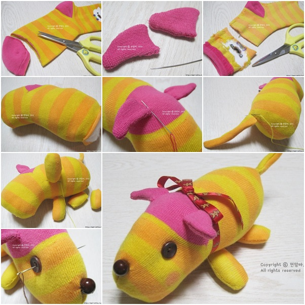 How to diy cute sock puppy fab art diy