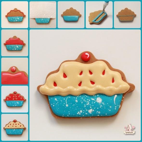 decorated cherry pie cookie