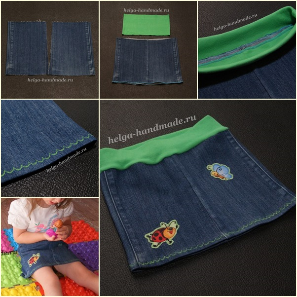 demin skirt from old jean