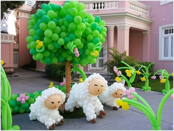 How to make beautiful balloon flower decoration www for Beautiful balloon decorations