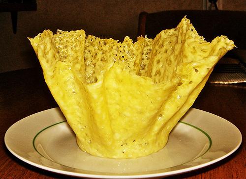 DIY Edible Cheese Salad Bowls Recipe 6