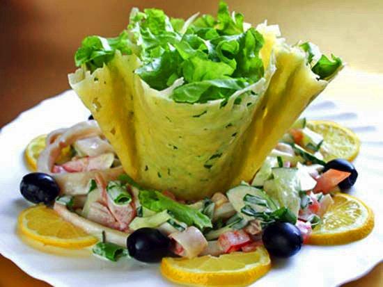 DIY Edible Cheese Salad Bowls Recipe