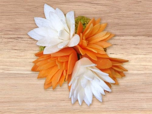 Diy perfect carrot flowers for salads garnish g