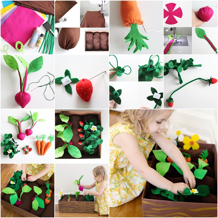diy plantable felt garden box