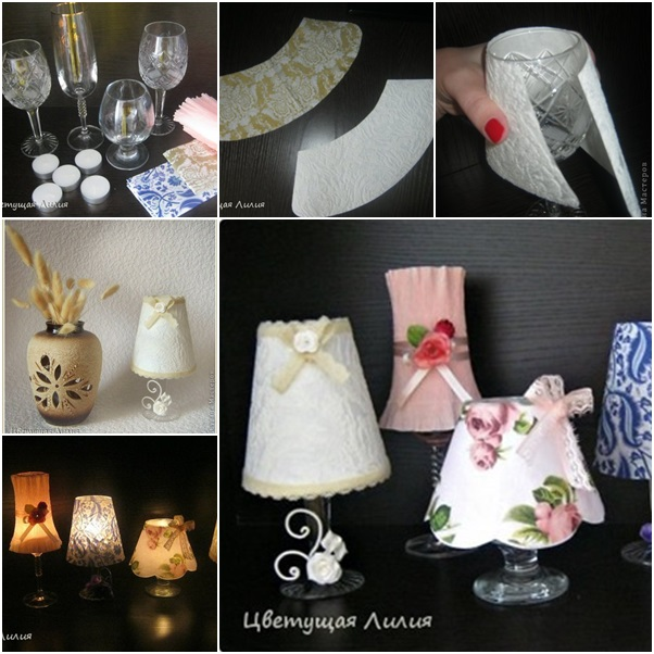 How to DIY Easy Wine Glass Candle Lamp