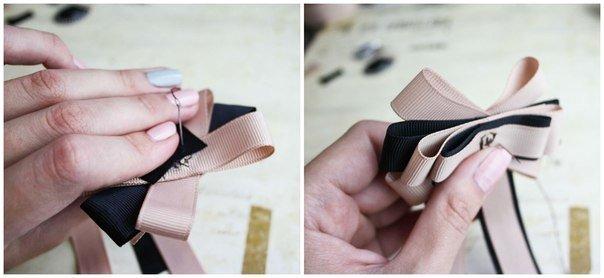 DIY Bead Ribbon Bow Brooch Tutorial - Video