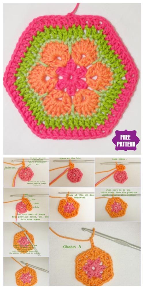 DIY Crochet African Flower Soccer Ball Free Crochet Pattern