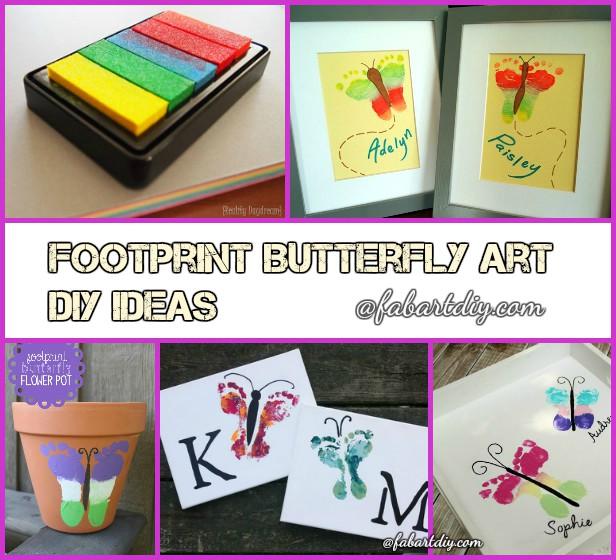 DIY Footprint Butterfly Art Tutorial and Craft Ideas