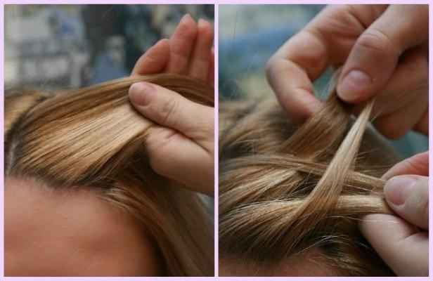 DIY Herringbone Braid Updo Hairstyle Tutorial
