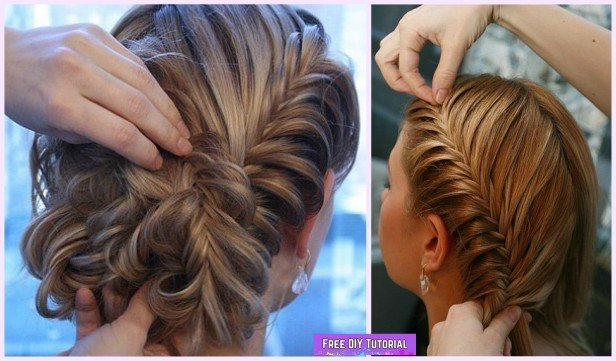 DIY Herringbone Braid Updo Hairstyle Tutorial