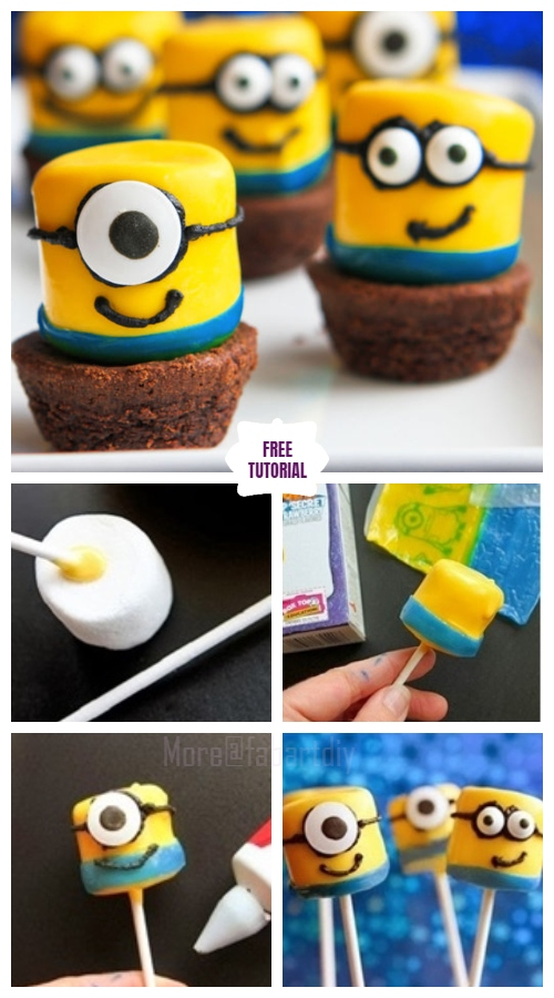 Diy Minion Marshmallow Pops In 4 Easy Steps Easy Tutorial