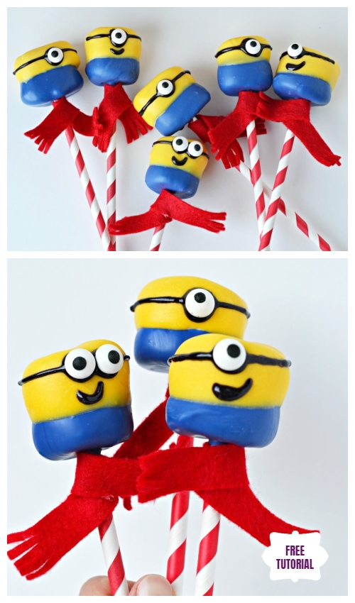 DIY Minion Marshmallow Pops in 4 Easy Steps - Easy Tutorial
