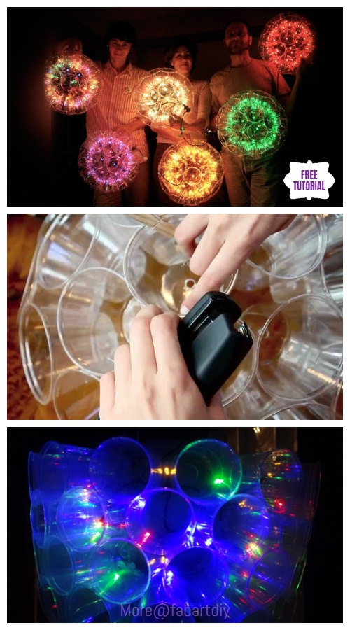 Christmas DIY Plastic Cup Sparkle Ball Tutorial - Video