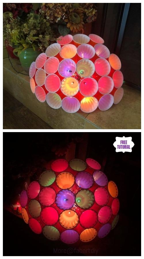 DIY Plastic Cup Sphere Light Tutorial