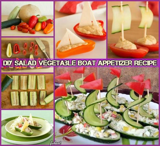 DIY Salad Vegetable Boat Appetizer Recipe