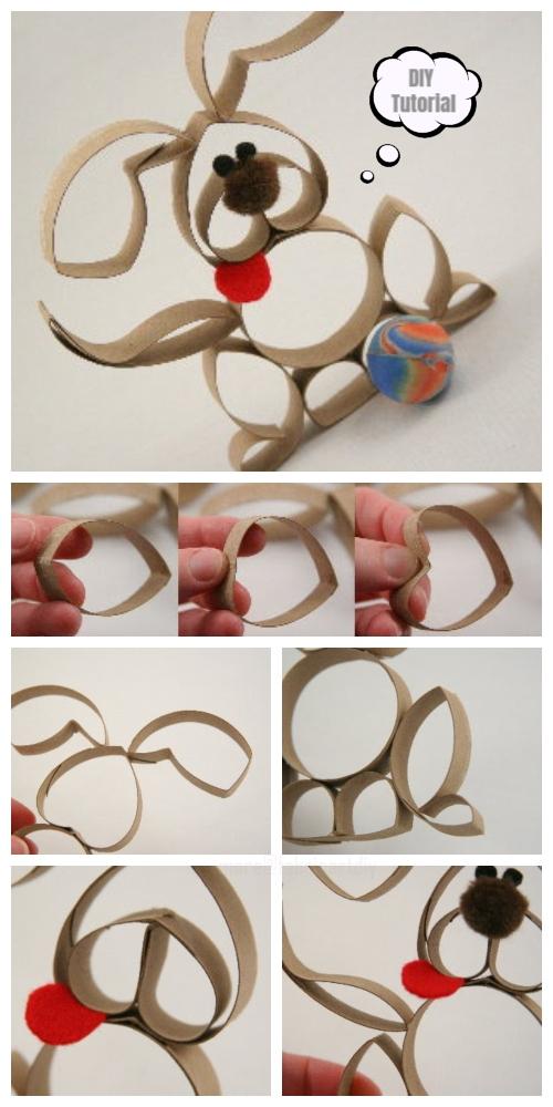 DIY Toilet Paper Roll Puppy Craft Tutorial
