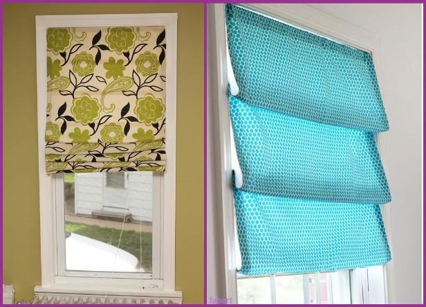 How to DIY Window Roman Shade Tutorial