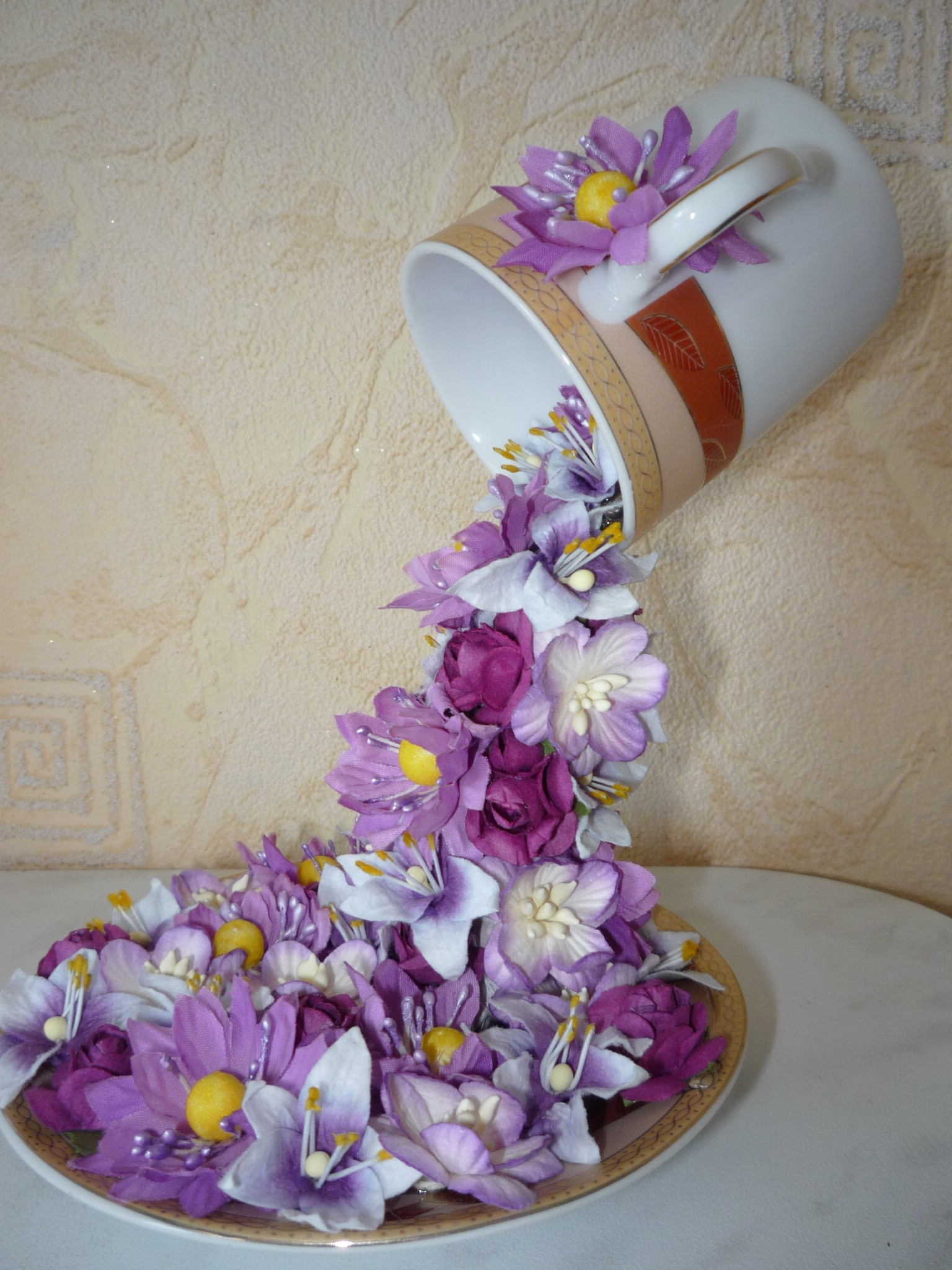How To DIY Floral Topiary Flying Cup WwwFabArtDIYcom