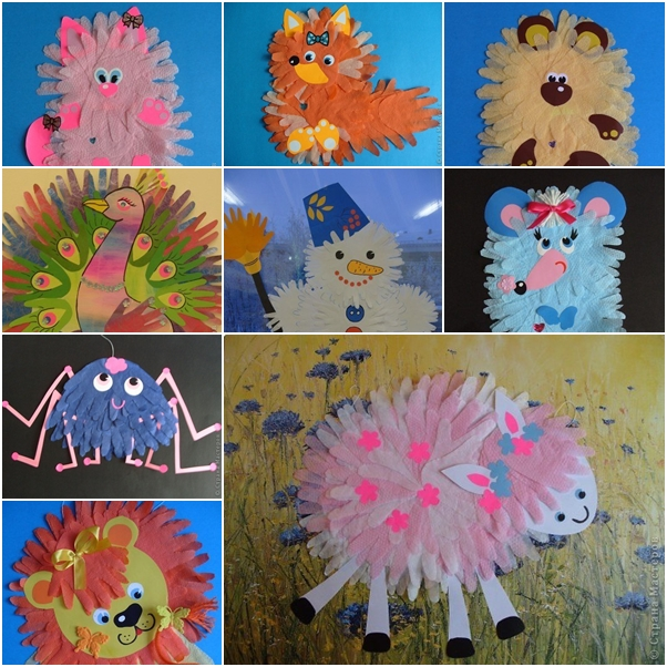 How To Make Creative Animals With Hand Shape Paper Cutting