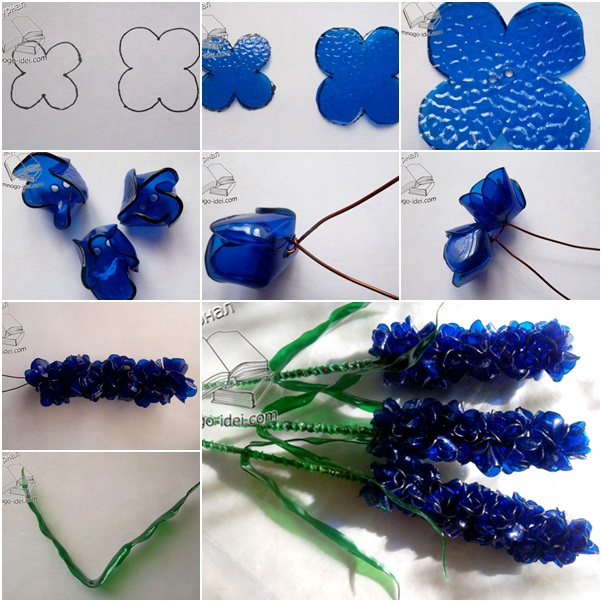 How to diy beautiful hyacinth bouquet from plastic bottles for Diy recycled plastic bottles