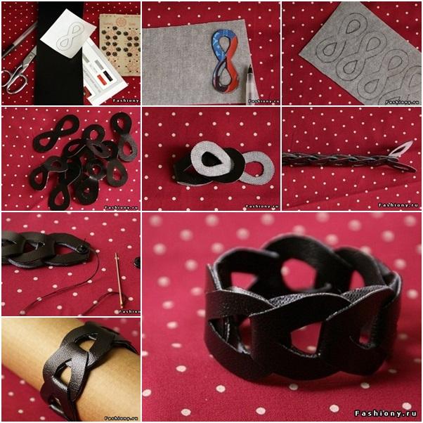 interlocking leather bracelet