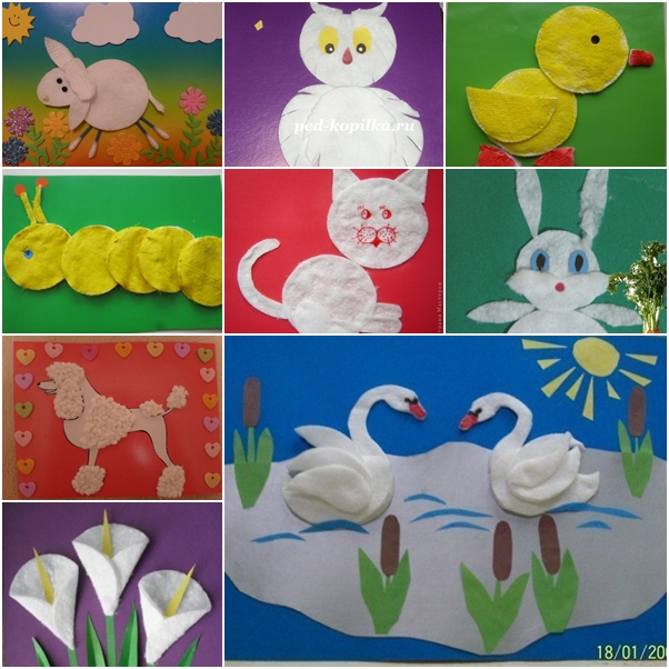Creative Kids Craft Ideas With Cotton Pads