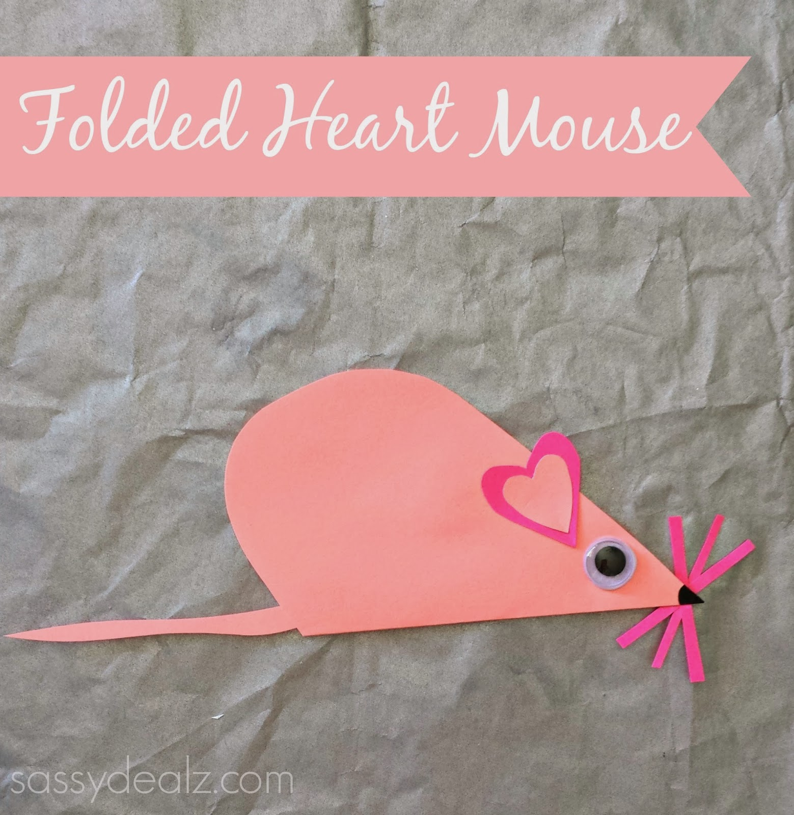 Easy Valentines Craft Using Contact Paper