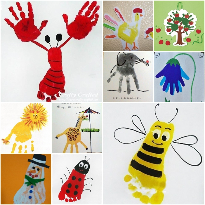 Creative craft ideas on hand and food print for kids fab for Creative arts and crafts ideas for adults