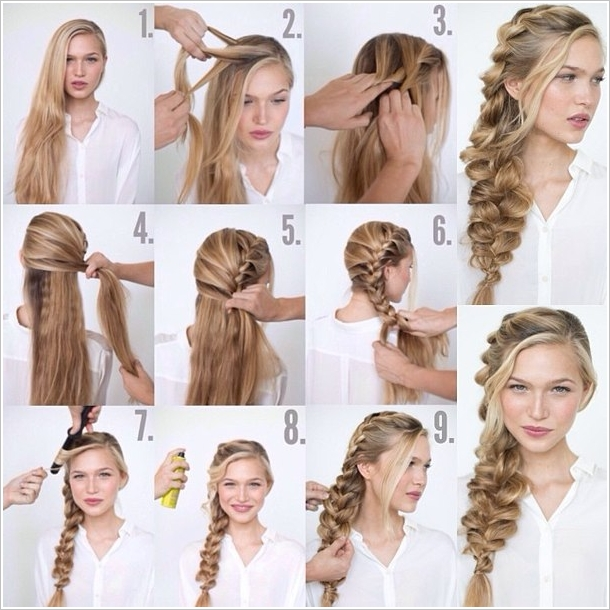 How To Make Romantic Loose Side Braided Hairstyle Fab Art Diy