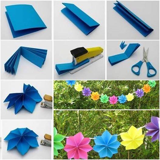 DIY paper flower party decor